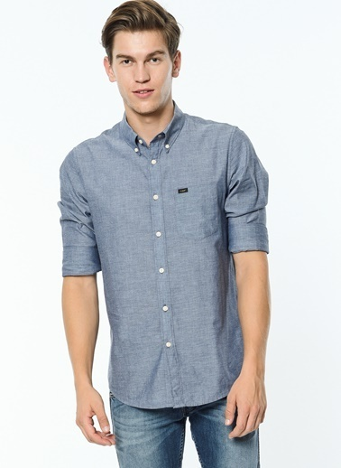 Uzun Kollu Oxford Yaka Slim Fit Gömlek-Lee